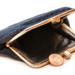 minimum wage - purse with penny coin