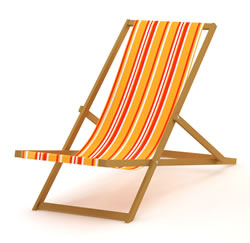 holiday pay - deck chair