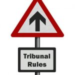 tribunal rules - road sign with arrow