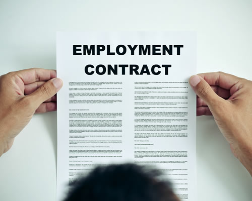 reading employment contract